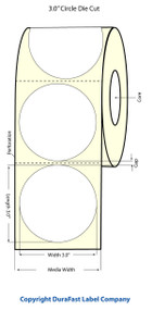 Primera LX900 3 inch Circle  Matte BOPP Labels | Primera LX900 Labels | Labels