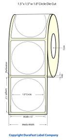 Primera LX900 1 inch Circle Glossy BOPP Labels | Primera LX900 Labels | Labels