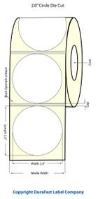 "Primera LX900 2"" Circle NP Matrix ON Glossy BOPP Labels   Primera LX900 Labels   Labels"