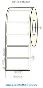 "Primera LX900 2""x1""  White Polyester Labels   Primera LX900 Labels   Labels"