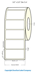 "Primera LX900 3""x2""  White Polyester Labels   Primera LX900 Labels   Labels"