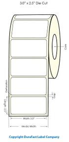 "Primera LX900 3""x2.5""  White Polyester Labels   Primera LX900 Labels   Labels"