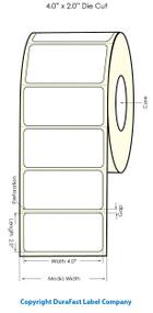 "Primera LX900 4""x2""  White Polyester Labels   Primera LX900 Labels   Labels"