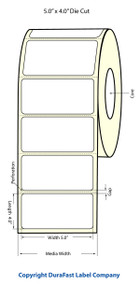 "Primera LX900 5""x4"" White Matte Labels 500/Roll"