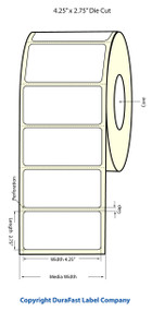 "Primera LX900 4.25""x2.75 White Matte Labels 860/Roll"