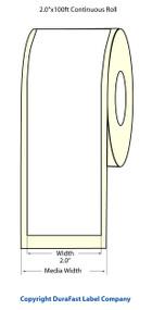 "Epson TM-C3500 2"" Matte Label Roll 100 Feet | Epson Media, TM-C3500 Labels 812001"