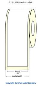 "Epson TM-C3500 2.25"" Matte Label Roll 100 Feet | Epson Media, TM-C3500 Labels 812035"