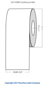 "Epson TM-C3500 3"" High Gloss Tag Stock 818003"