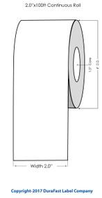 """Epson TM-C3500 2"""" Matte Tag Stock 819005"""