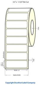 Epson ColorWorks C3500 3.5x1.125 Matte BOPP Labels 814031