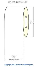 """Afinia L801 Memjet 6""""x500 ft Continuous Matte Paper Label Roll"""