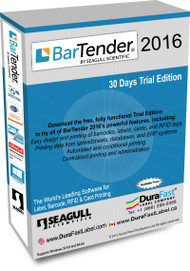 Seagull BarTender 2016 Free 30 Day Trial Software