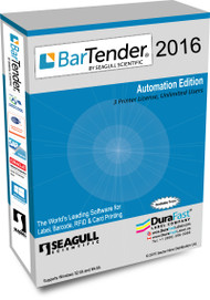 Seagull BarTender 2016 Automation Edition with 3 Printer