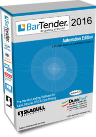 Seagull BarTender 2016 Automation Edition with 5 Printer