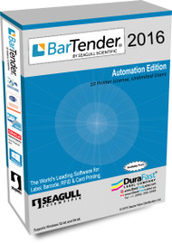 Seagull BarTender 2016 Automation Edition with 10 Printer