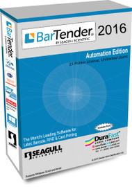 Seagull BarTender 2016 Automation Edition with 15 Printer