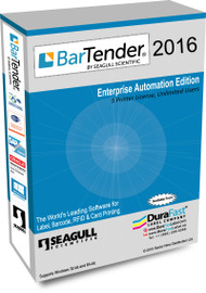 Seagull BarTender 2016 Enterprise Automation Edition with 5 Printer