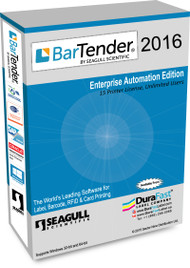 Seagull BarTender 2016 Enterprise Automation Edition with 15 Printer