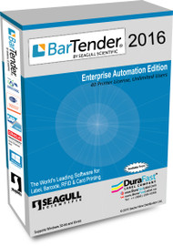 Seagull BarTender 2016 Enterprise Automation Edition with 40 Printer