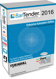 Seagull BarTender 2016 Enterprise Automation Edition with 50 Printer
