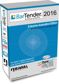 Seagull BarTender 2016 Enterprise Automation Edition with 80 Printer