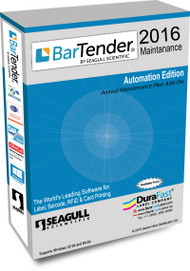 Seagull BarTender 2016 Automation Maintenance Plan with 10 Printer