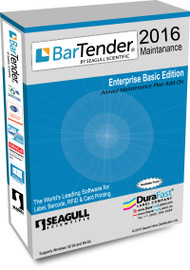 Seagull BarTender 2016 Enterprise Automation Maintenance with 15 Printer