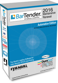 Seagull BarTender 2016 Automation Maintenance Renewal with 15 Printer