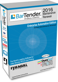 Seagull BarTender 2016 Enterprise Automation Maintenance Renewal with 5 Printer