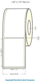 "1.25"" x 1.75"" NP Clear Polypropylene Labels for Primera LX900 Label Printer"