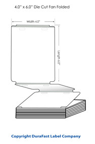 """Inkjet 4""""x6"""" High Gloss Name Tags with 2 holes for lanyard Fan-Folded 500/Ctn"""