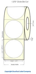 "Primera LX900 1.375"" Circle High Gloss Label Roll"