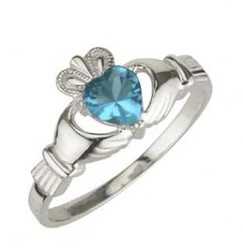 Solvar December Birthstone Ring
