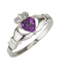 Solvar February Birthstone Ring
