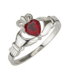 Solvar July Birthstone Ring