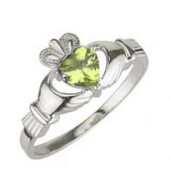 Solvar Sterling Silver August Birthstone Ring