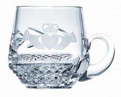 Galway Crysal Claddagh Christening Mug