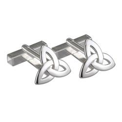 Sterling Silver Trinity Knot Cufflink by Solvar