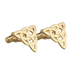 Gold Plated Trinity Cuff Links