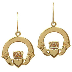 10 Karat Claddagh Earrings