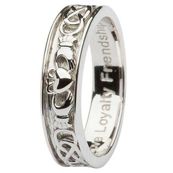 Mens Sterling Silver Claddagh Celtic Wedding Ring by ShanOre