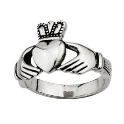 Steel Men's Claddagh Ring by Solvar