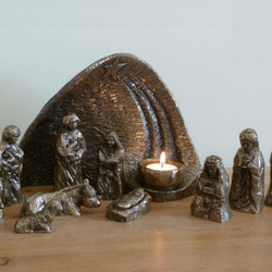 Light Of The World Nativity Scene by Wild Goose Studio