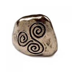 Bronze Celtic Spiral Symbol Paperweight by Wild Goose Studio