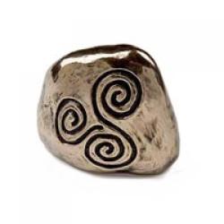 Bronze Celtic Spiral Symbol Paperweight by Wild Goose Studio