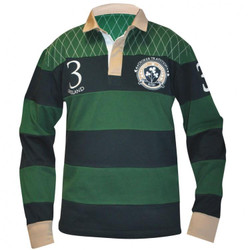Croker Green and Navy Traditional Longsleeve Rugby Jersey