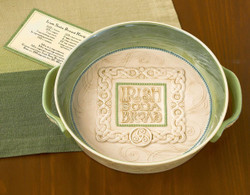 Irish Soda Bread Dish w/ Recipe Card