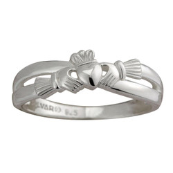 "Sterling Silver Claddagh ""Kiss"" Ring"