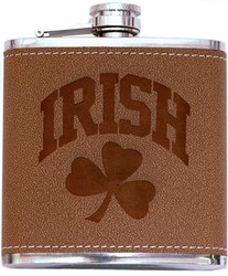 Irish Leather Flask