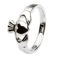 Sterling Silver Gents Claddagh Ring Inscribed